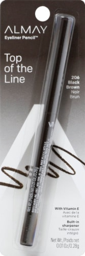 Almay 206 Black Brown Top of the Line Eyeliner Pencil Perspective: front
