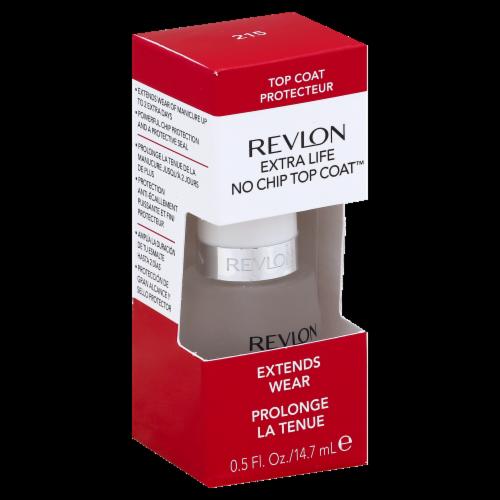 Revlon Extra Life Top Coat Nail Polish Perspective: front