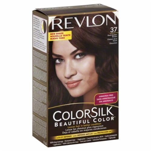 Revlon Color Silk Dark Golden Brown 37 Hair Color Perspective: front
