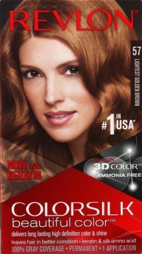 Revlon Color Silk 57 Golden Brown Hair Color Perspective: front