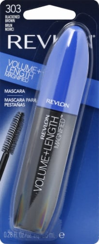 Revlon Volume + Length Magnified 303 Blackened Brown Mascara Perspective: front