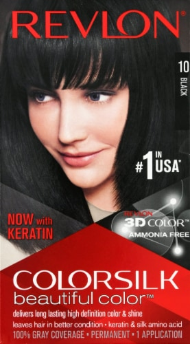Revlon Colorsilk 10 Black Hair Color Perspective: front