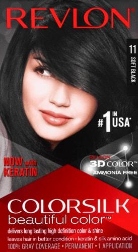Revlon Colorsilk 11 Soft Black Hair Color Perspective: front