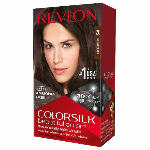 Revlon Colorsilk 20 Brown Black Hair Color Perspective: front