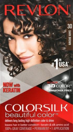 Revlon Colorsilk 30 Dark Brown Hair Color Perspective: front