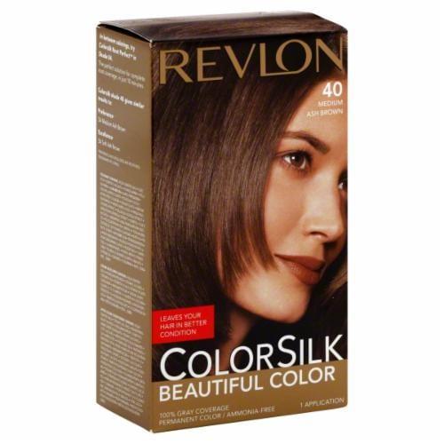 Revlon Color Silk Medium Ash Brown 40 Hair Color Perspective: front