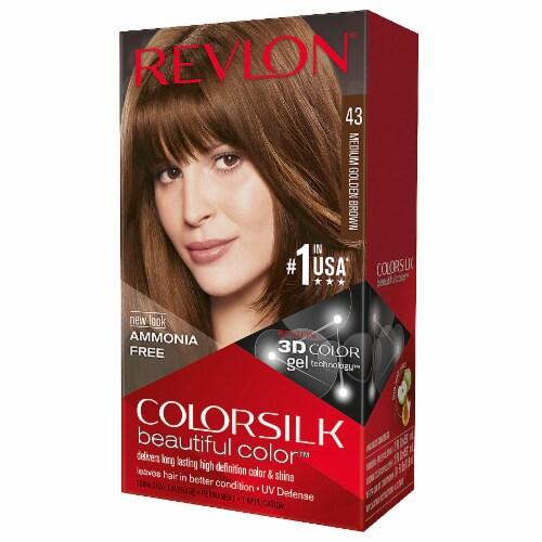 Revlon Colorsilk Medium Golden Brown 43 Hair Color Perspective: front
