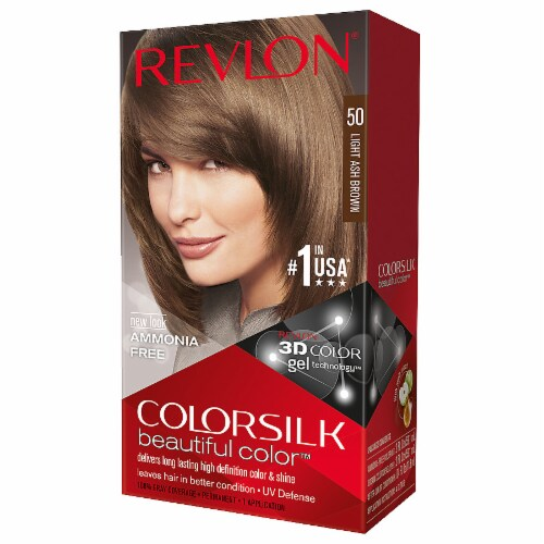 Revlon Colorsilk 50 Light Ash Brown Hair Color Perspective: front