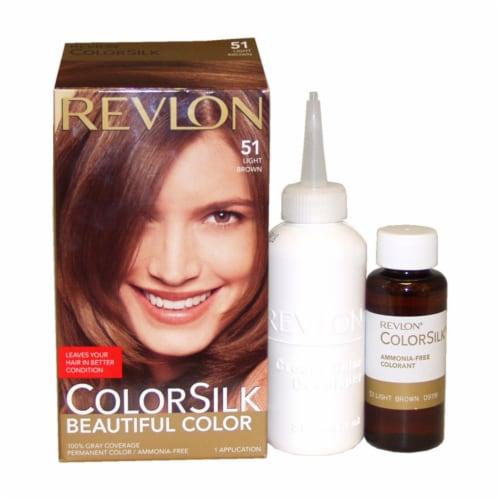 Revlon Colorsilk Light Brown 51 Hair Color Perspective: front