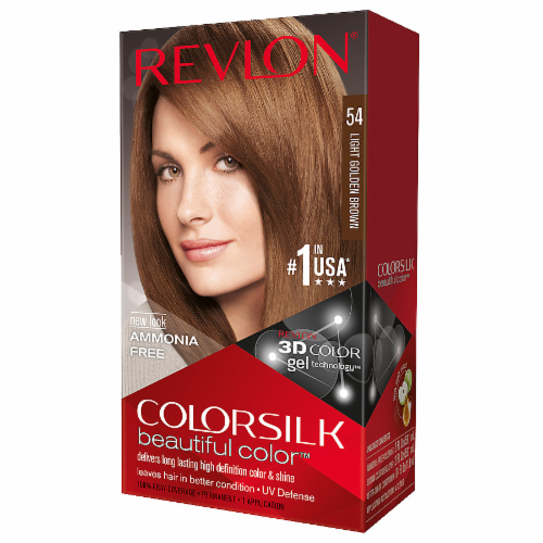 Revlon Colorsilk 54 Light Golden Brown Hair Color Perspective: front