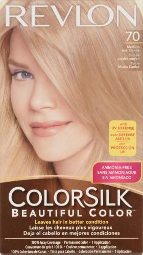Revlon Colorsilk 70 Medium Ash Blonde Hair Color Perspective: front