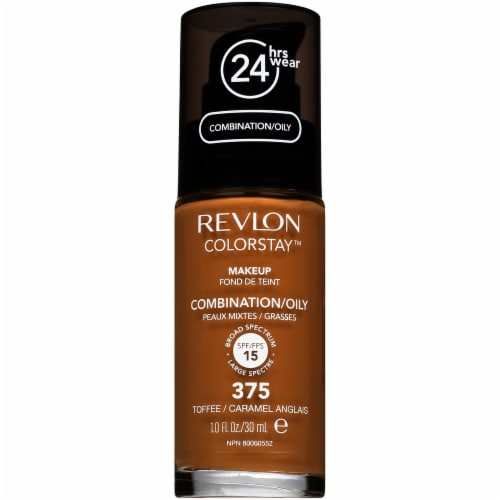 Revlon Colorstay 375 Combination/Oily Toffee Liquid Foundation Perspective: front