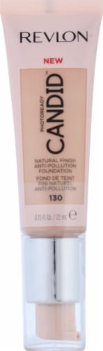 Revlon Candid Natural Finish 130 Ivory Anti Pollution Foundation Perspective: front