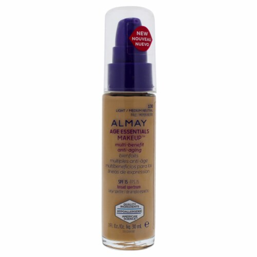 Almay Age Essentials Makeup Light / Medium Foundation SPF 15 Perspective: front