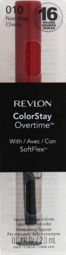 Revlon ColorStay Overtime 010 Non-Stop Cherry Lipstick Perspective: front