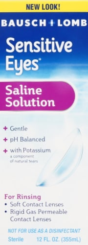 Bausch & Lomb Sensitive Eyes Plus Saline Solution Perspective: front