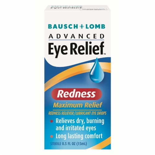Bausch & Lomb Advanced Eye Relief Redness Maximum Relief Lubricant Eye Drops Perspective: front