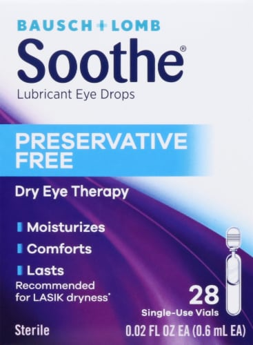 Bausch & Lomb Soothe XP Lubricant Eye Drops Perspective: front