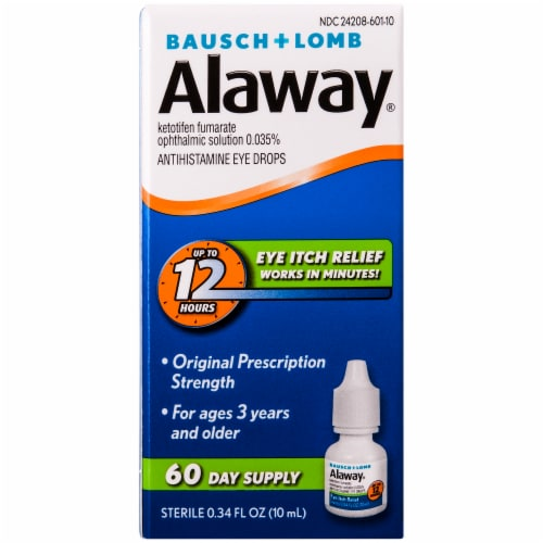 Bausch & Lomb Alaway Antihistamine Eye Drops Perspective: front