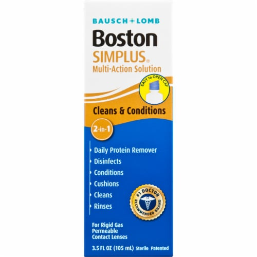 Bausch & Lomb Boston Simplus Multi-Action Solution Perspective: front