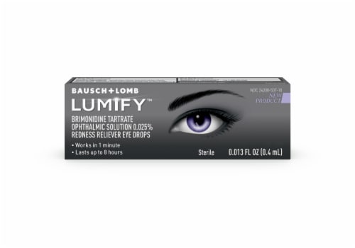 Bausch & Lomb Lumify Redness Reliever Eye Drops Perspective: front