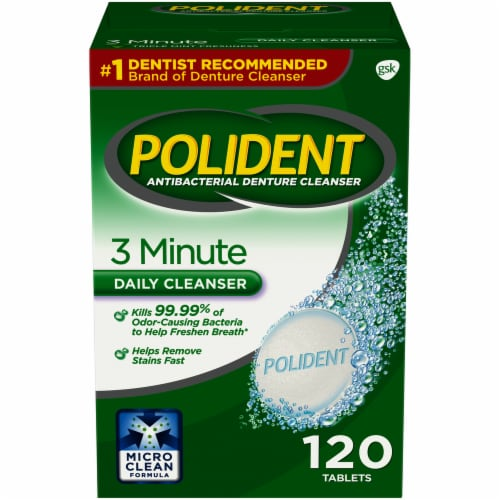 Polident 3 Minute Denture Cleanser Perspective: front