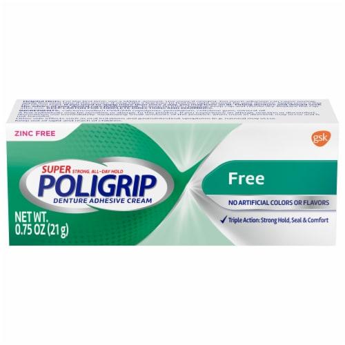 Poligrip Denture Adhesive Cream Perspective: front