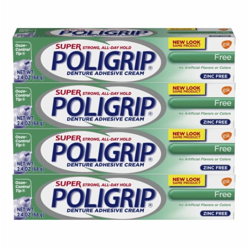 Poligrip Super Strong Denture Adhesive Cream Perspective: front