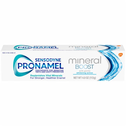 Sensodyne Pronamel Mineral Boost Whitening Toothpaste Perspective: front
