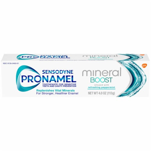 Sensodyne Pronamel Mineral Boost Peppermint Toothpaste Perspective: front