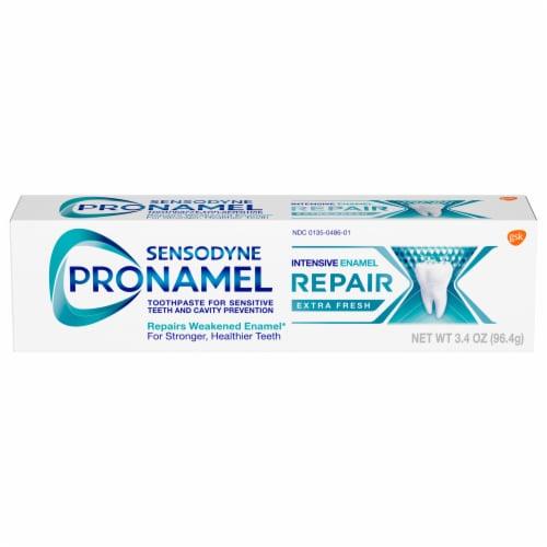 Sensodyne Pronamel Intensive Enamel Repair Extra Fresh Toothpaste Perspective: front