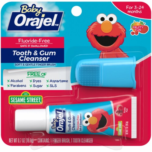 Orajel Baby Fruity Fun Tooth & Gum Cleanser Perspective: front