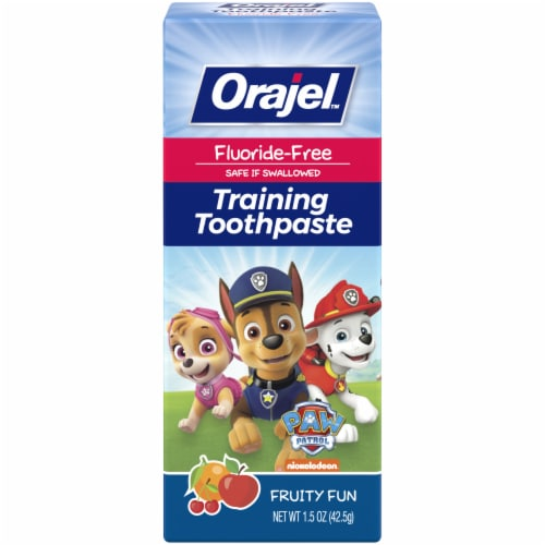 Orajel Paw Patrol Fruity Fun Training Toothpaste Perspective: front