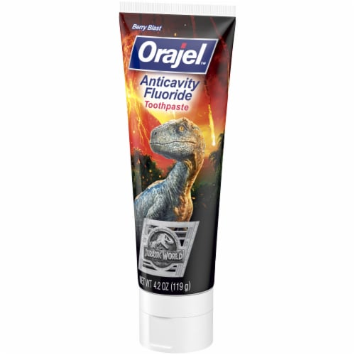 Orajel Jurassic World Anticavity Fluoride Toothpaste Perspective: front