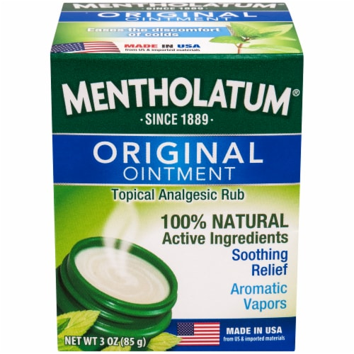 Mentholatum Original Ointment Topical Analgesic Rub Perspective: front