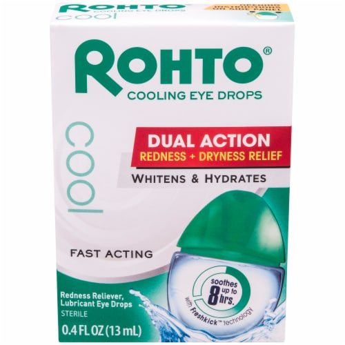 Rohto Redness Relief Cooling Eye Drops Perspective: front