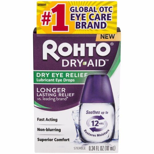 Rohto Dry Aid Advanced Dry Eye Relief Lubricant Eye Drops Perspective: front