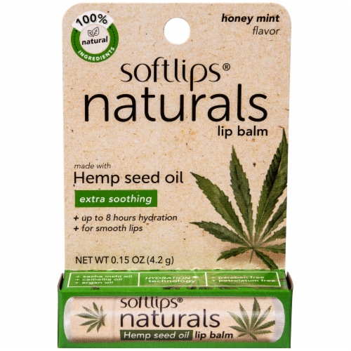 Softlips Naturals Hemp Seed Lip Balm - Honey Mint Perspective: front