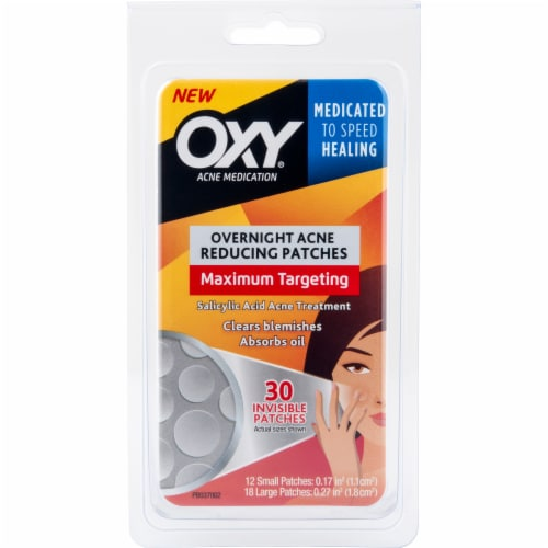 Oxy Overnight Acne Reducing Patches Perspective: front