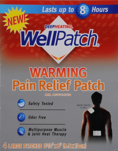 Wellpatch Warming Pain Relief Patch Large Perspective: front