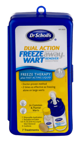 Dr. Scholl's Dual Action Freeze Away Treatment Kit Perspective: front