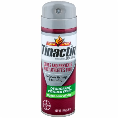Tinactin Toinaftate Deodorant Antifungal Powder Spray Perspective: front