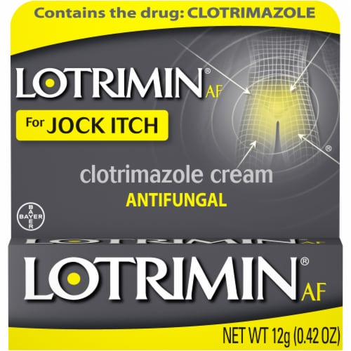 Lotrimin AF for Jock Itch Antifungal Clotrimazole Cream Perspective: front