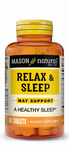 Mason Natural Relax & Sleep Dietary Supplement Tablets Perspective: front