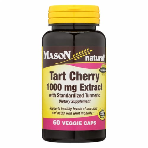 Mason Naturals - Tart Cherry with Turmeric - 60 Capsules Perspective: front