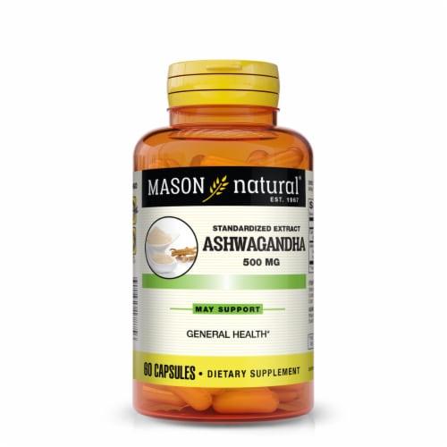 Mason Natural Ashwagandha Capsules 500mg Perspective: front