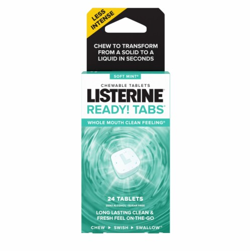Listerine Soft Mint Ready Tabs Perspective: front