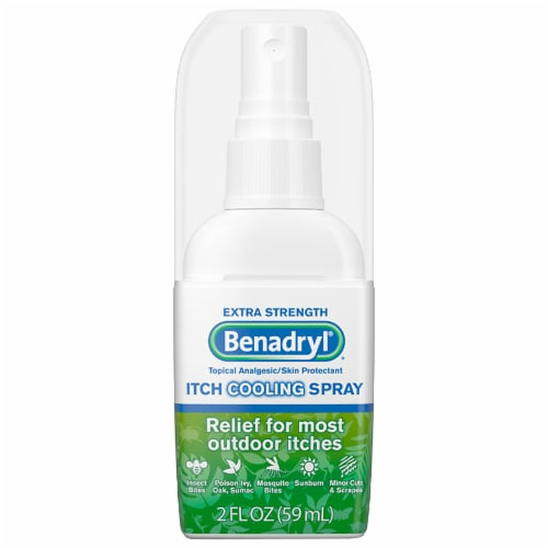 Benadryl Extra Strength Itch Relief Cooling Spray Perspective: front