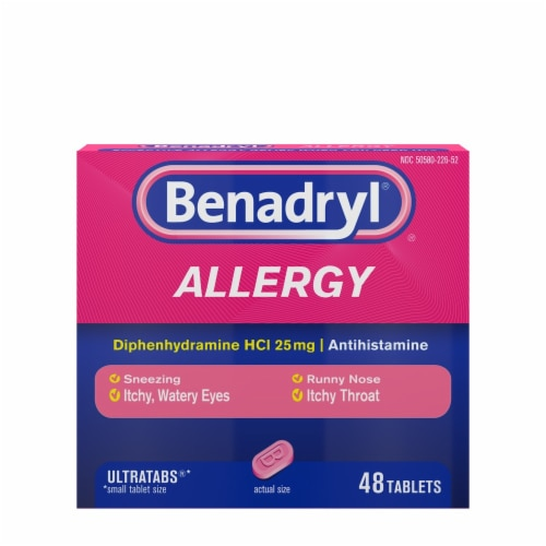 Benadryl Allergy Ultratabs Tablets 25mg Perspective: front