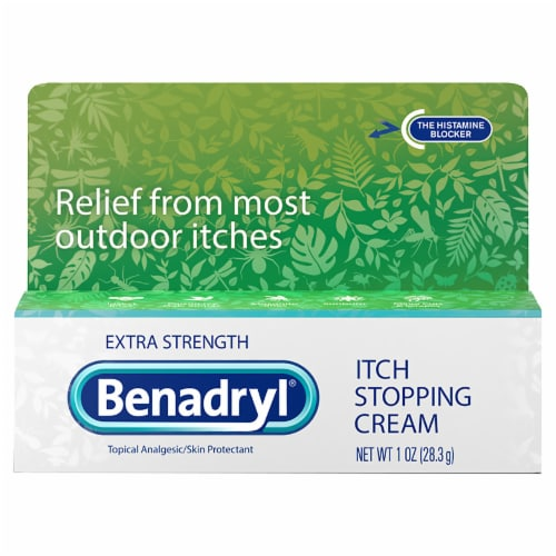 Benadryl Extra Strength Itch Stopping Cream Perspective: front